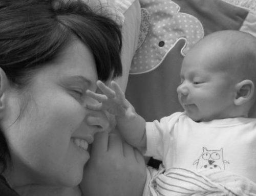 Jenn Davidson and baby Astyn